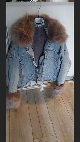 Nowa kurtka parka jeans