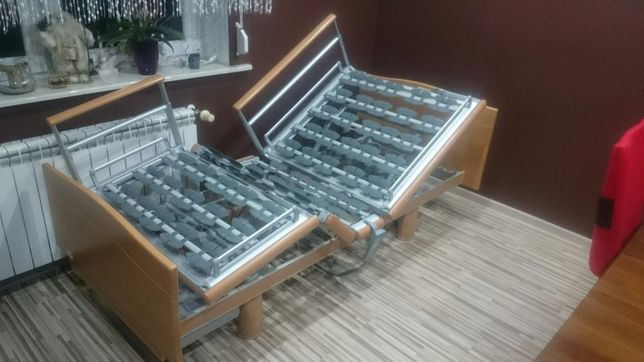 Łóżko rehabilitacyjne - łóżko szpitalne elektryczne na pilota montaż