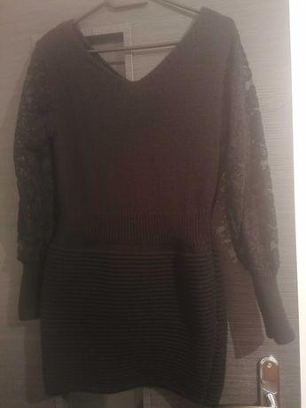 Sweterek tunika lub sukienka