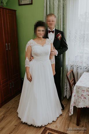 Suknia ślubna 42-44 biala