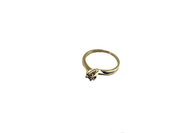 Złoty Pierścionek z cyrkonią 1,65 G 333