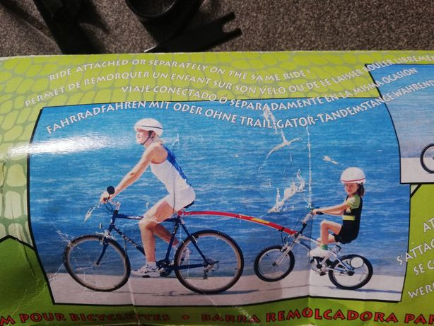 Dyszel holowniczy do roweru
