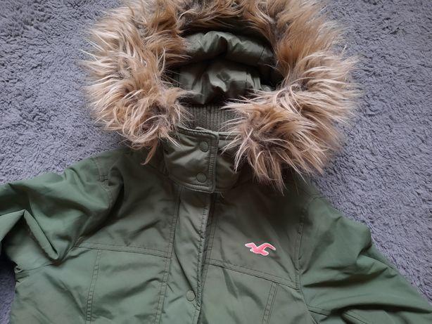 Damska kurtka HOLLISTER puchowa M jacket futerko