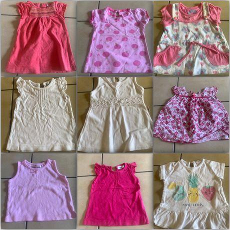 ubranka dla dziewczynki 57szt rozm. 62-80