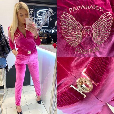 Kombinezon welur skrzydła róż Paparazzi Fashion UNI