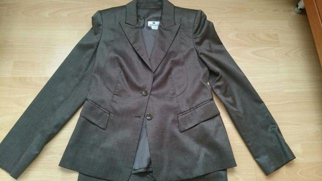 Elegancki komplet do biura Deni Cler marynarka, spódnica, spodnie