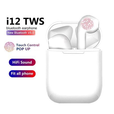 I12 TWS SŁUCHAWKI DOTYKOWE bezprzewodowe jak airpods iPhone samosung