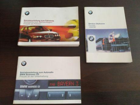Niemiecka instrukcja obsługi BMW 3, E 46. Książka serwisowa.