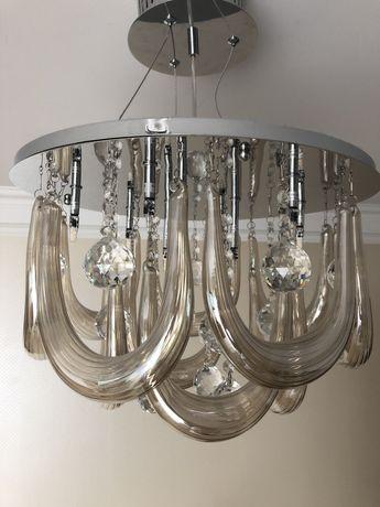 Lampa wisząca sufitowa - kryształy z żarówkami ledowymi