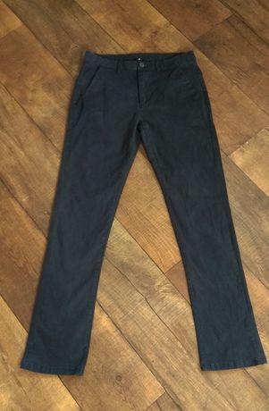 Брюки штаны джинсы s-m школьные чёрные классические