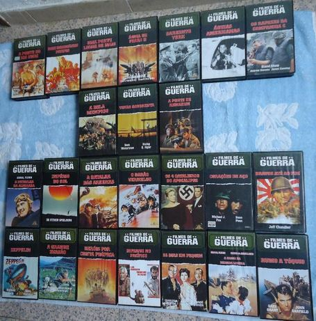 Filmes de VHS da Coleção Filmes de Guerra