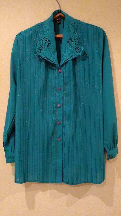 Женская блузка с ажурным воротником. Кременчуг - изображение 1