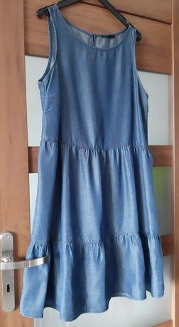Sukienka trapezowa jeansowa