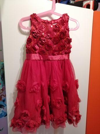 Sukienka czerwona 104 cool smyk