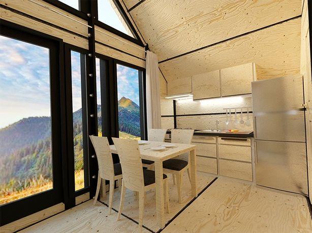 Dom ModulEco 35 ekologiczny, mobilny, całoroczny.Nie wymaga pozwolenia