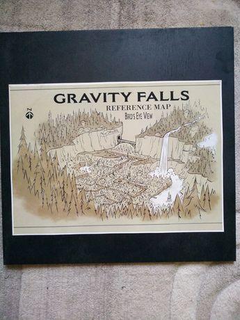 Плакат карта Гравити Фолз