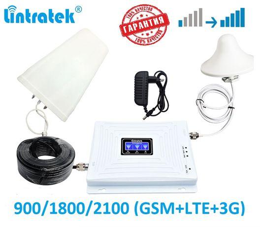 Репитер Lintratek KW20L GDW 900+1800+2100 усилитель gsm