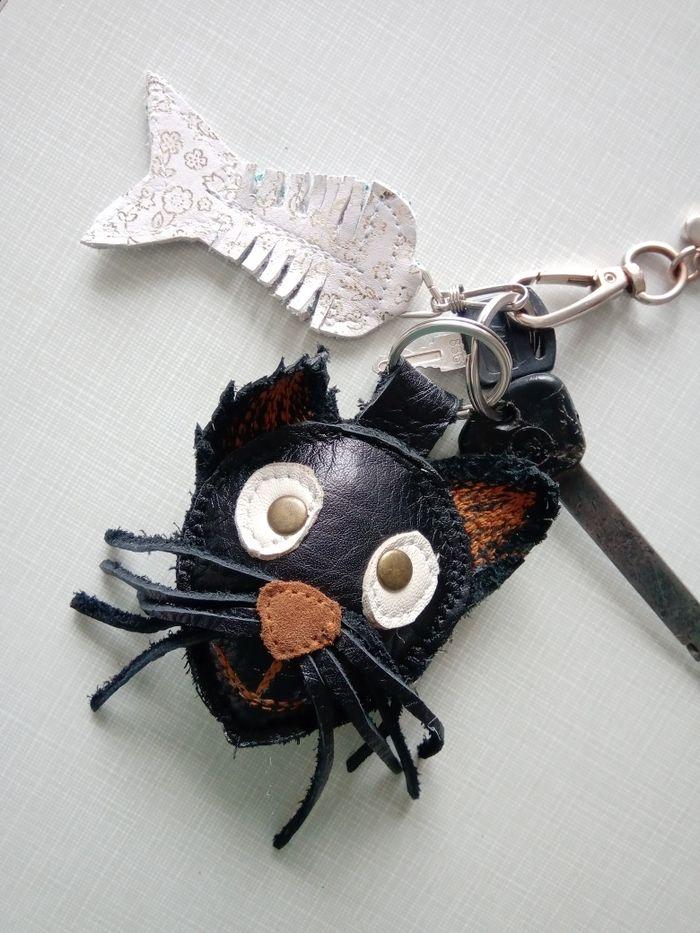 Брелок для ключей, кожанный, ручная работа, для сумки, машины Харьков - изображение 1