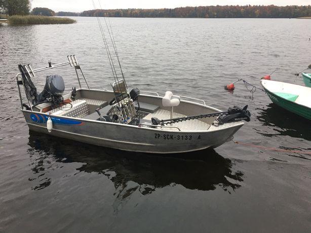 Łódka łódź aluminiowa wędkarska motorówka