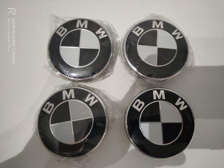 Nowe dekielki kapsle do felg BMW czarne black 68mm