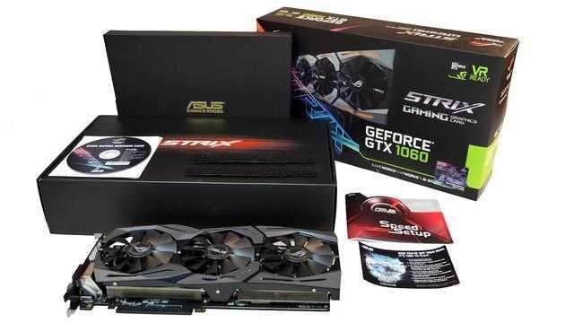 Asus ROG Strix GeForce GTX 1060 Gaming OC