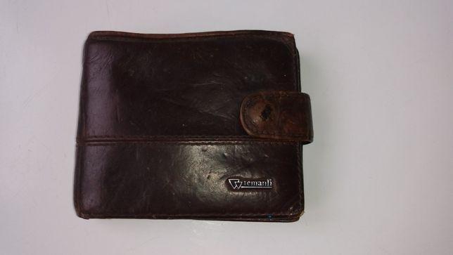 Мужской кошелек с отделом для карточек и мелочи