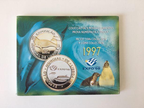 Colecção 9 moedas bnc expo 98 (1997)