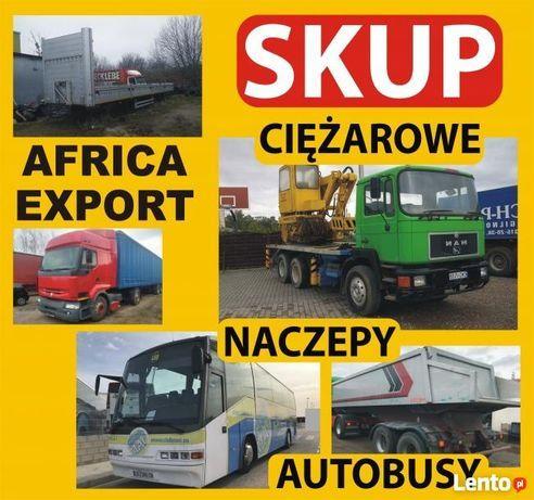 Skup Ciężarówek export Afryka Autobusów Motocykli Motorowek Zlomu