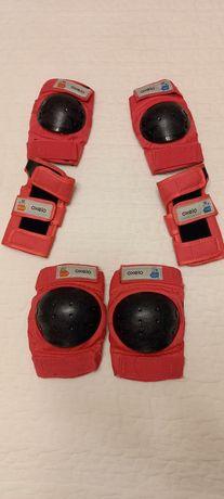 Zestaw 3 ochraniaczy na rolki, deskorolkę, hulajnogę BASIC dla dzieci