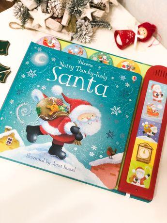 Santa Noisy Touchy-Feely,Usborne  Рождественская музыкальная книга