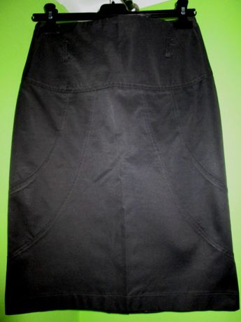 spódnica elegancka - grafit roz 38