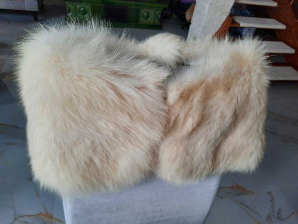 Etola lis biały futro naturalne