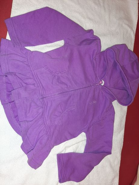 Fioletowa bluza 2-3 lata z falbana idealny stan dunnes 98cm