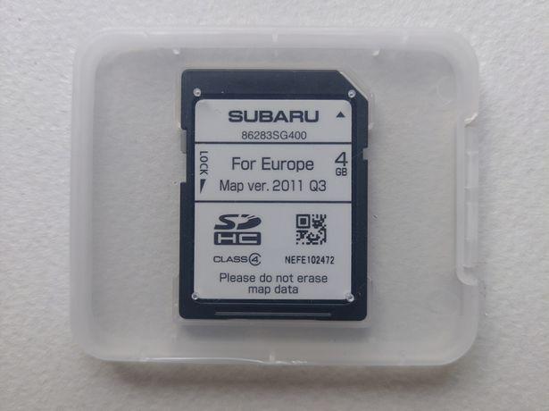 Subaru Mapa Europa 2011 Q3 - 86283SG400