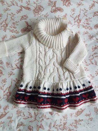 Sukienka sweterkowa babyGAP