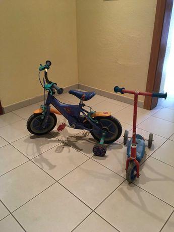 Triciclo + Trotinete criança