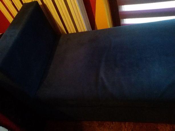sofa granatowa nierozkładana mała