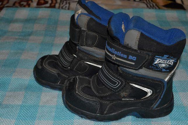 Ботинки зимние и туфли замшевые для мальчика 28 размер