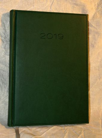 Kalendarz jako notatnik, rok 2019, rozmiar A5, kolor zielony