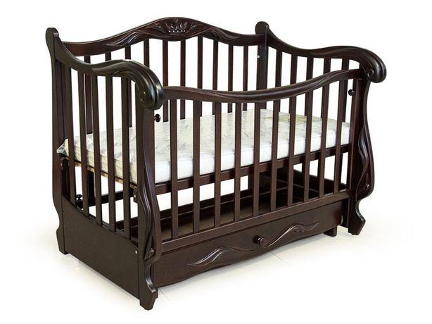 """Кроватка """"Корона"""" с матрасом, постельным бельем и балдахином"""