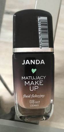 Janda, Make Up, Kryjący fluid fleksyjny 08 beż ciemny