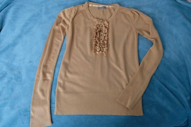 Sweterek musztardowy XS