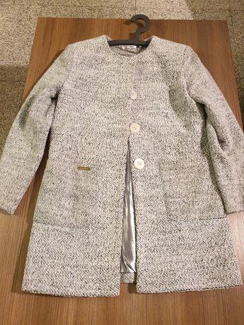 Płaszcz płaszczyk szary damski 36