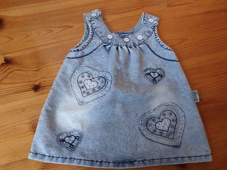 Jeansowa sukienka w rozmiarze 68
