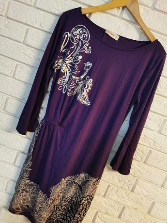 Nowa sukienka na długi rękaw Desigual L 40