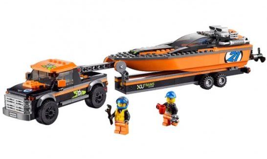 Конструктор LEGO Внедорожник 4х4 с гоночным катером (60085)