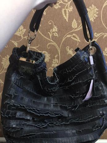 Кожаная сумка Jimmy choo