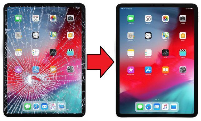 """Szyba szybka z wymianą w iPad Pro 11"""" model 2018r 1500zł Żelazna 89"""
