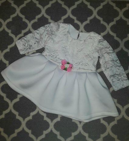 Komplet sukienka opaska roczek 86