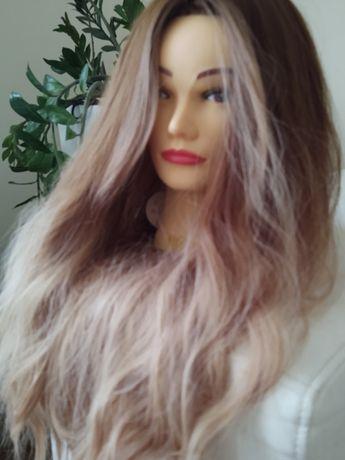 Peruka długie włosy fale ombre sombre blond